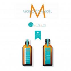 Pack dúo Aceite de Tratamiento Original 100 ml y aceite de tratamiento 100 ml Light Moroccanoil.
